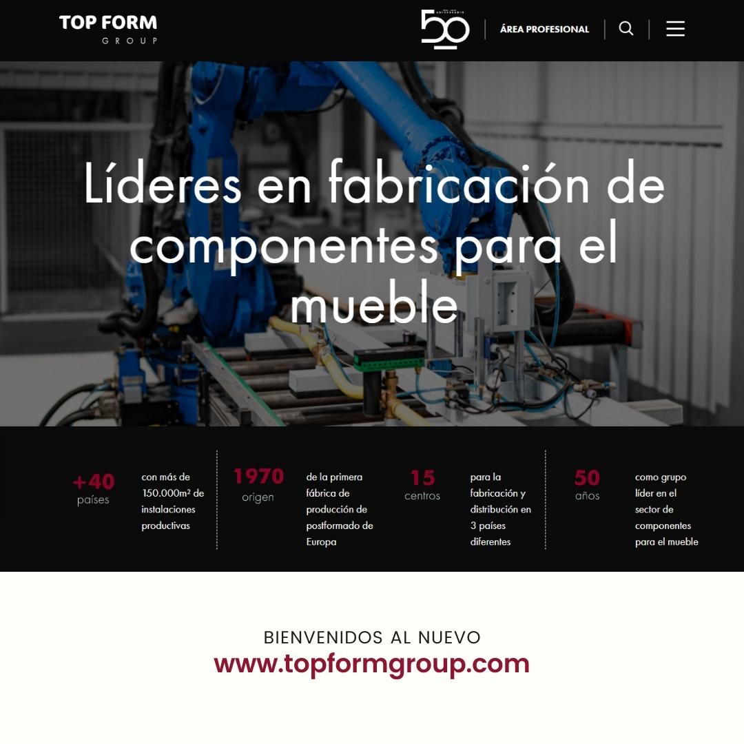Nuevo sitio web Top Form Group