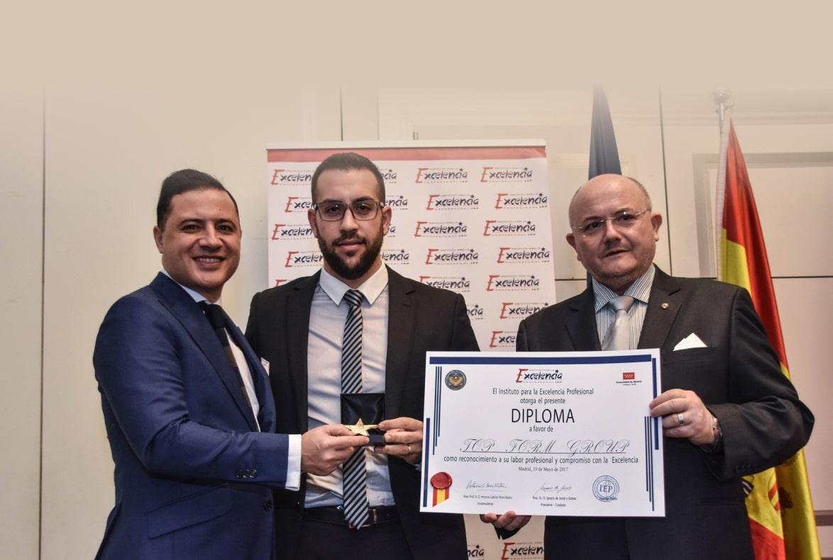 El grupo Top Form galardonado con el premio Estrella de Oro a la Excelencia Profesional